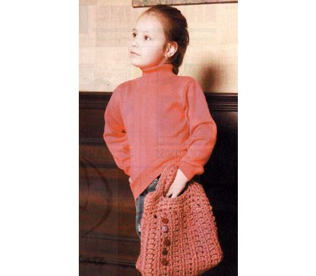 Вяжем детскую сумочку для девочки крючком пошагово
