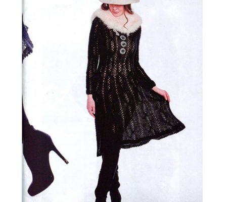 Вяжем черное ажурное платье