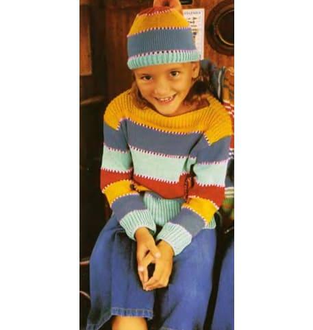 Детский пуловер спицами для мальчика