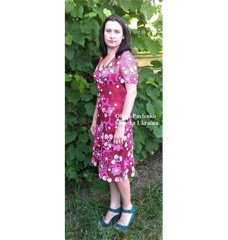 Вязаное платье на заказ Цветочный коктейль