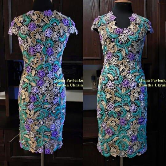 Платье в технике ирландского кружева