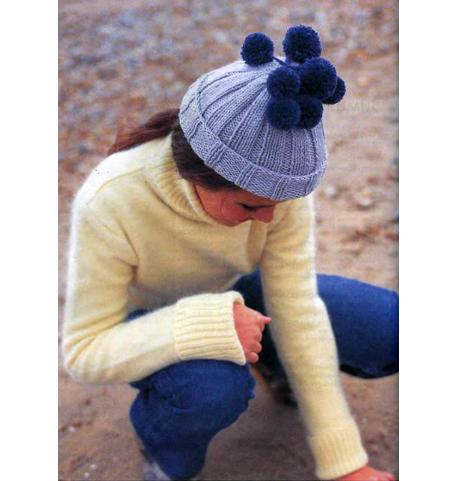 как связать зимнюю шапку спицами для начинающих