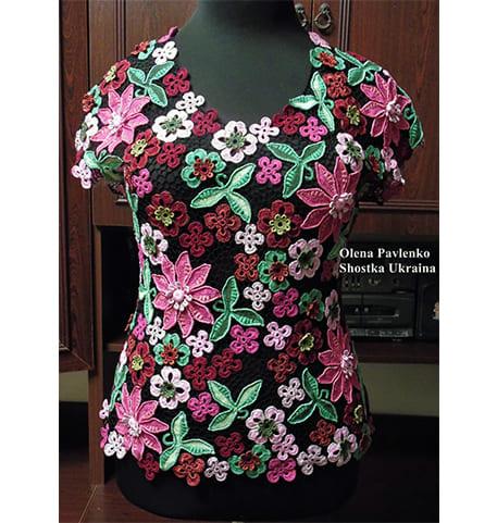Блуза Цветочная россыпь на заказ