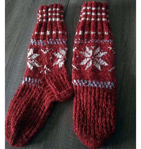 Женские вязаные носки спицами схема