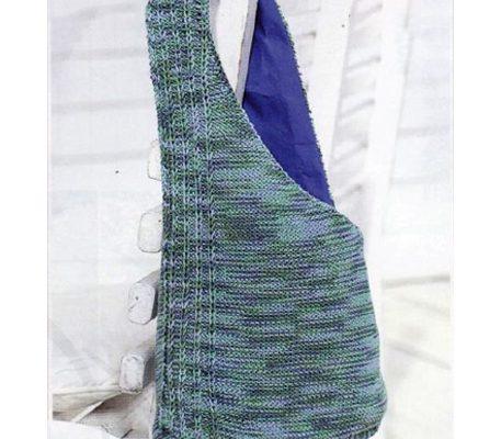 Вязаная спицами сумка - торба Описание