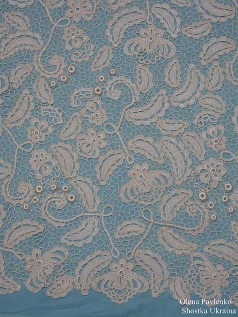 Вязанное длинное красивое платье «Карамельная роспись»