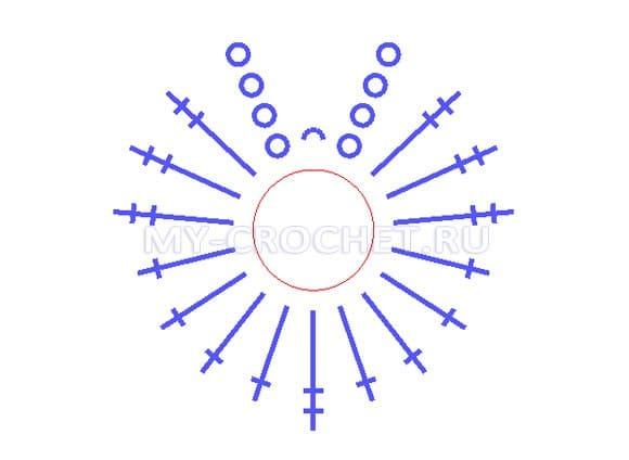 Схема следков тапочек