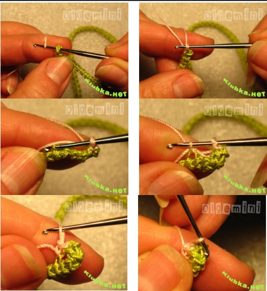 Как связать цветок для жакета