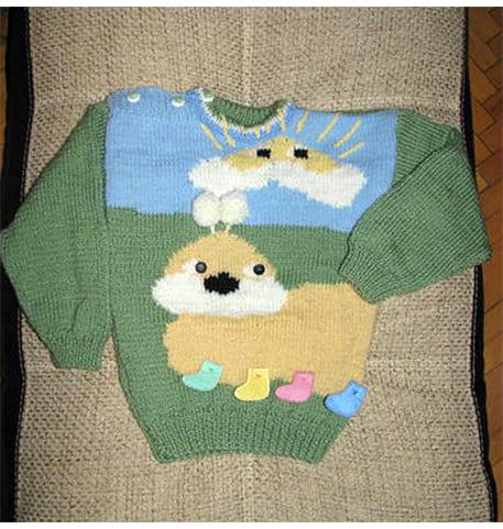 Вяжем детский пуловер спицами