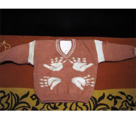 Как связать детский пуловер спицами
