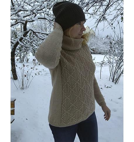 Связать женский свитер спицами с описанием