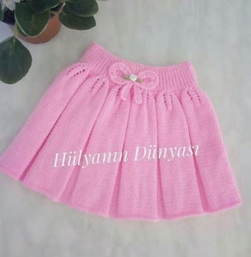 розовая детская юбочка