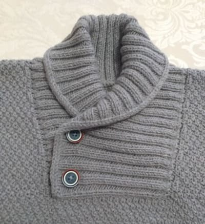горловина мужского свитера