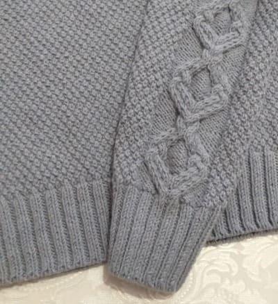 как связать рукава для свитера