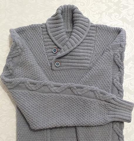 Как связать мужской свитер спицами?