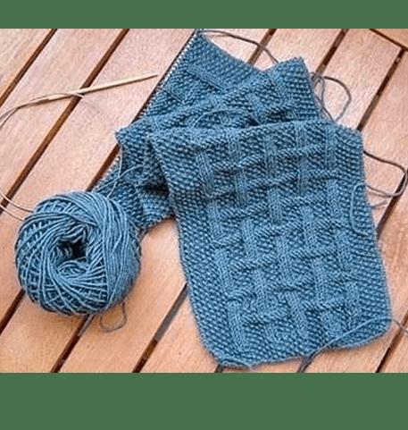 Как связать мужской шарф для начинающего