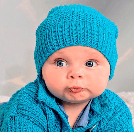 Вязание детской шапочки спицами для начинающих