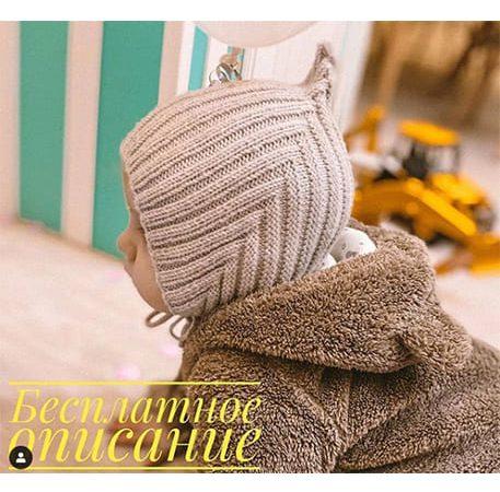 связать шапочку для малыша 6 месяцев спицами