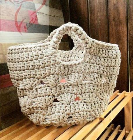Вязаные сумки крючком на лето схемы