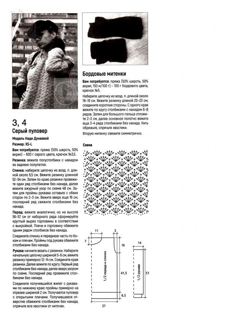 Схема пуловера для женщины